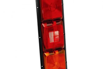 Bargman® - 84 Series Recessed Triple Amber Vertical Long Tail Light with Backup and Black Base