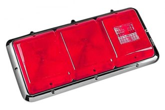 Bargman® - 85 Series Recessed Triple Red Horizontal Tail Light with Backup and Chrome Base
