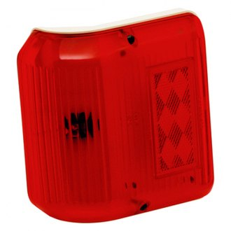 Bargman® - 86 Series Wrap-Around Red Clearance Light with Colonial White Base