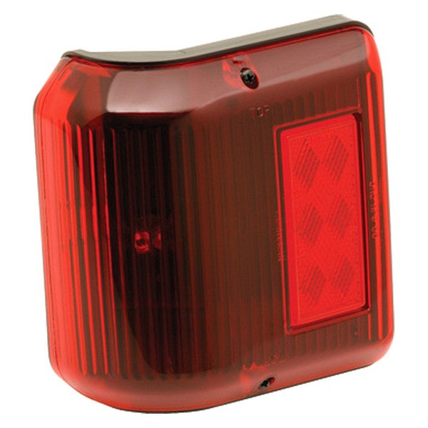 Bargman® - 86 Series Wrap-Around Red Clearance Light with Black Base