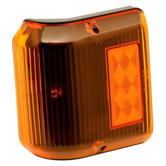 Bargman® - 86 Series Wrap-Around Amber Clearance Light with Black Base