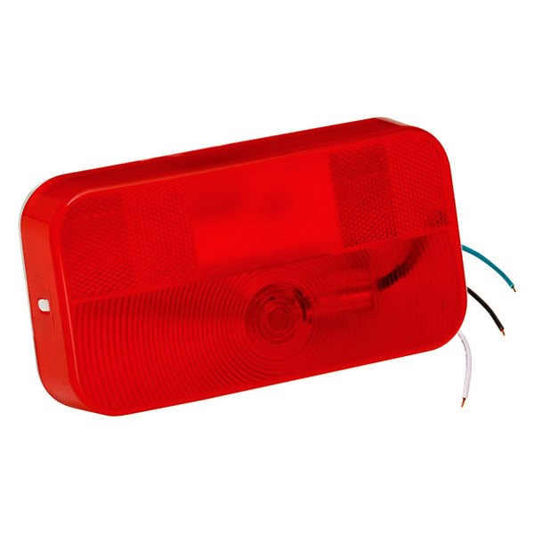 Bargman® - 92 Series Red Tail Light with White Base