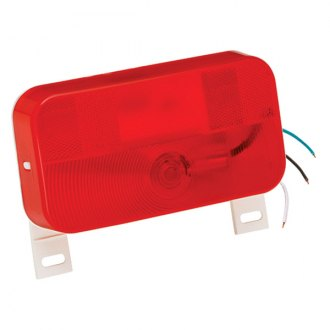 Bargman® - 92 Series Red Tail Light with License Bracket and White Base