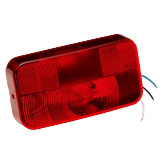 Bargman® - 92 Series Red Tail Light with Black Base