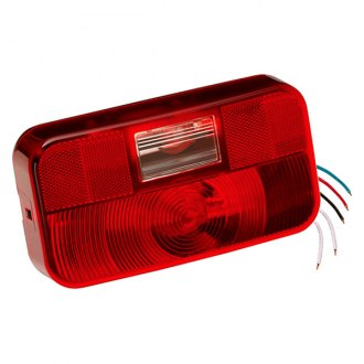 Bargman® - 92 Series Red Tail Light with Backup and Black Base