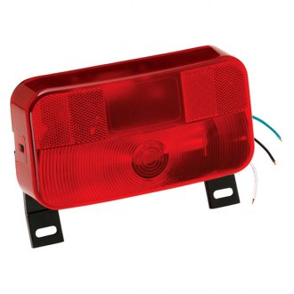 Bargman® - 92 Series Red Tail Light with License Bracket and Black Base