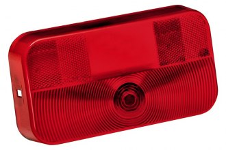 Bargman® 30-92-708 - 92 Series Red Tail Light Lens with License Bracket