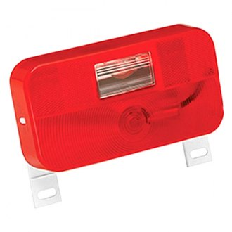 Bargman® - 92 Series Red Tail Light Lens with Backup and License Bracket