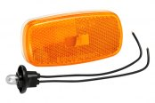 Bargman® - 59 Series Amber Clearance Light with White Base