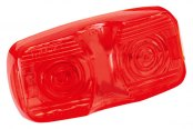 Bargman® - Red Dual Bulb Clearance Light Lens