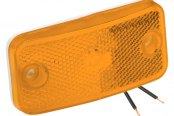 Bargman® - 178 Series Amber Clearance Light with White Base