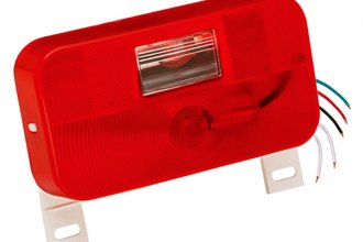Bargman® - 92 Series Red Tail Light with Backup and License Bracket