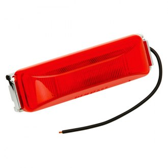 Bargman® - 38 Series LED Red / Amber Side Marker Clearance Light with Black Base, Self Grounding and Single Black Wire