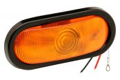 "Bargman® - 6"" Sealed Amber Turn Tail Light with Grommet and 90 Degrees Pigtail"