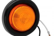 "Bargman® - 30 Series Sealed Amber Clearance Light with Grommet and 6-1/2"" Pigtail"