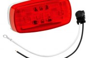 Bargman® 47-58-031 - 58 Series Red Clearance / Side Marker Light (With Pigtail)