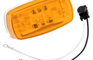 Bargman® 47-58-032 - 58 Series Amber Clearance / Side Marker Light (With Pigtail)