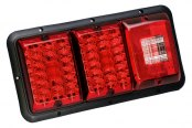 Bargman® - 84 / 85 Series LED Red Triple Tail Light with Incandescent Backup and Black Base