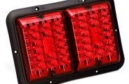 Bargman® 47-84-527 - 84 / 85 Series LED Double Red / Red Tail Light (With Black Base)