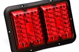 Bargman® 47-84-527 - 84 / 85 Series LED Double Red Tail Light with Black Base
