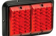 Bargman® 47-84-610 - 84 Series Surface Mount LED Double Red / Red Tail Light (With Black Base)