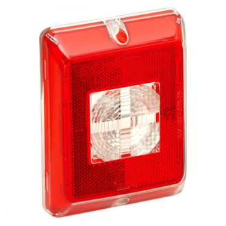 Bargman® - Enhanced Height Red Reflex with Clear Center Red Border Incandescent Backup Lens