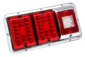 Bargman® - 84 / 85 Series LED Triple Red Tail Light with Incandescent Backup and Chrome Base