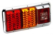 Bargman® - 84 / 85 Series LED Triple Red / Amber Tail Light with Incandescent Backup and Chrome Base