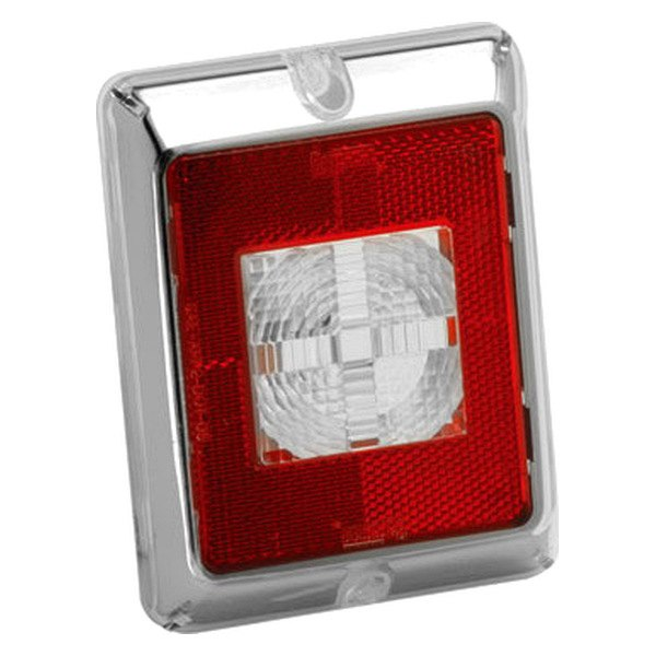 Bargman® - Enhanced Height Red Reflex Incandescent Lens with Clear Center Chrome Border