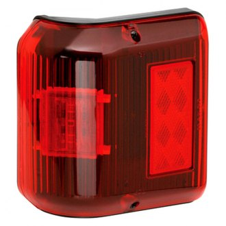 Bargman® - 86 Series Wrap-Around LED Red Side Marker Clearance Light with Black Base