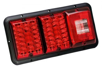Bargman® 48-84-009 - 84 / 85 Series LED Red Triple Tail Light with Incandescent Backup and Black Base