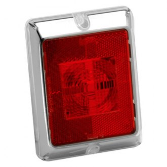 Bargman® - Enhanced Height Red Reflex with Red Center Chrome Border Incandescent Lens