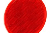 "Bargman® - 3-3/16"" Adhesive Mount Red Reflector"