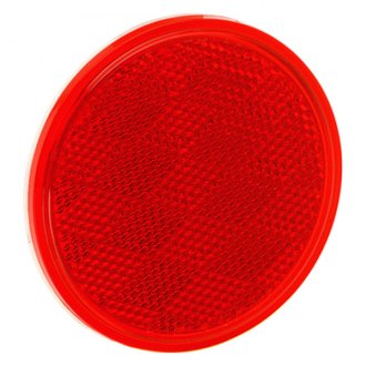 Bargman® - 3-3/16 Adhesive Mount Red Reflector