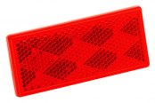 "Bargman® - 3-1/4"" x 1-1/2"" Adhesive Mount Red Reflector"