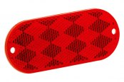 Bargman® - Oblong Red Reflector with Mounting Holes and Adhesive Back