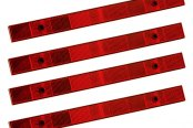 "Bargman® - 1.1""x12"" Red Reflector Set"