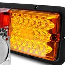 BARGMAN® - LED Red Amber Triple Long Tail Light
