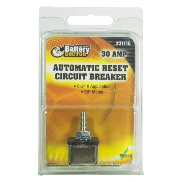 Battery Doctor® 31115 - ATO/ATC Fuse Block with Right Angle Circuit Breaker