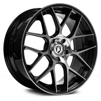 BAVARIA® - BC7M Gloss Black with Machined Face and Double Dark Tint