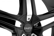 BAZO® - B501 Satin Black with Machined Groove and Chrome Inserts Close-Up