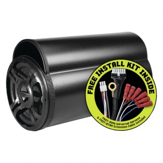 "Bazooka® - 10"" BT Series Single Ported Powered 100W Subwoofer Tube with Free Installation Kit"