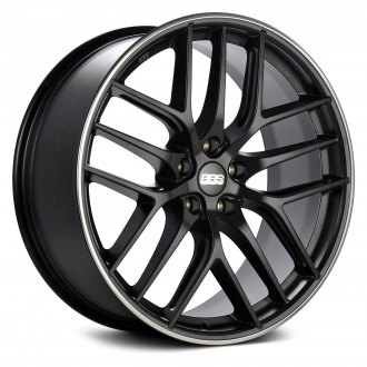 BBS® - CC-R Satin Black with Polished Stainless Steel Lip