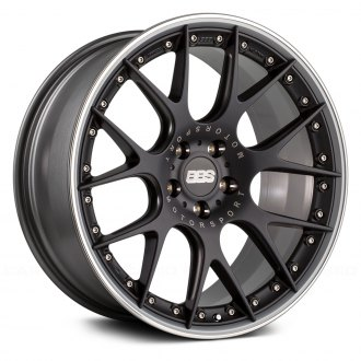 BBS® - CH-R II Satin Black with Polished Stainless Steel Lip