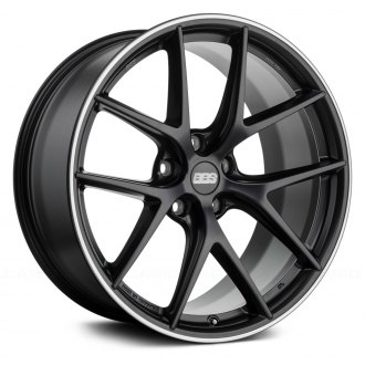 BBS® - CI-R Satin Black with Polished Stainless Steel Lip