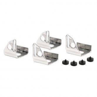 Be Cool® - Polished Aluminum Single Fan Mounting Brackets