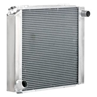 "Be Cool® - Qualifier Natural Finish Radiator with Dual 1"" Core"