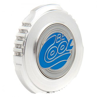 Be Cool® - Natural Finish Sure Grip Billet Radiator Cap with Be Cool Emblem
