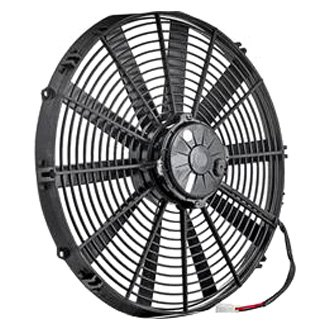 "Be Cool® - 16"" Euro Black High Torque Electric Puller Fan"