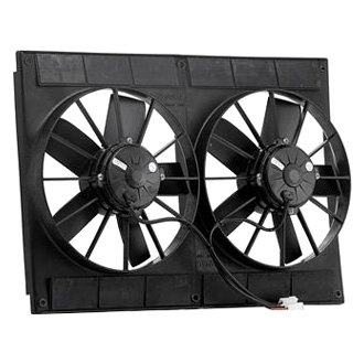 "Be Cool® - 11"" Euro Black High Torque Electric Dual Puller Fans"